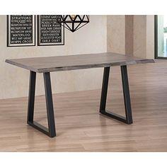 Live Edge Dining Table Solid rubberwood, metal, Rustic Finish Life Edge http://www.amazon.com/dp/B010S8G5HA/ref=cm_sw_r_pi_dp_qG6Bwb04GFVTE