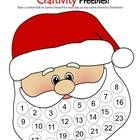 Christmas Santa Advent Calendar- Count down to Christmas day by gluing a cottonball to each circle in Santa's beard. Dot marker, craftivity, and bl...