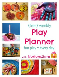 In this week's Play Planner we have treasure baskets, backyard farmyards, DIY greenhouses, learning with blocks and more. Over 10,000 families receive this Play Planner each week - wow! If you'd like a copy sent straight to your e-mail in-box, just pop your e-mail address in the box over on the blog and I'll send you a copy.