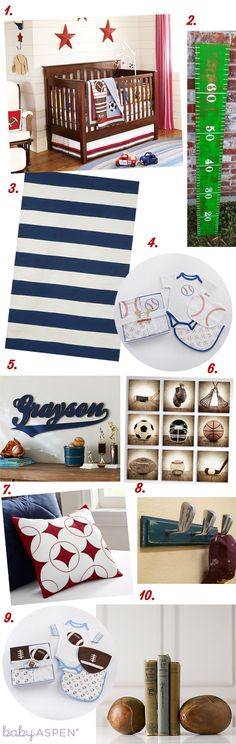 Sports Themed Nursery Inspiration | Cribspiration by Baby Aspen | Little All Star Nursery