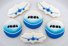 787 airplane cookies