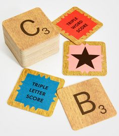 Scrabble Coaster Set