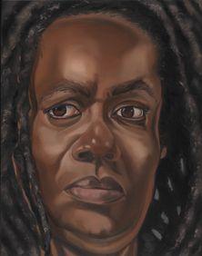 "Self Portrait by Diane Edison 1996, oil on panel 14x11"""