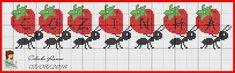 Cross Stitch Fruit, Cross Stitch Kitchen, Cross Stitch Animals, Cross Stitch Flowers, Cross Stitching, Cross Stitch Embroidery, Cross Stitch Patterns, Bordado Tipo Chicken Scratch, Pixel Crochet