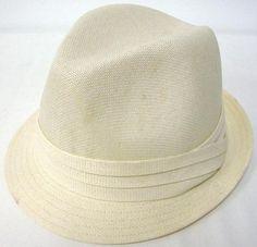 Fashion Plain Fedora Womens Fedora Hat Ivory e36e71641715