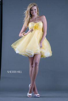 tutu yellow prom dress