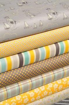 Seaside in Yellow for children's quilt