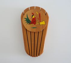 Wood Knife Holder Rooster Chicken Axe Vintage Wall Rack by LilBatsInTheAttic on Etsy