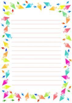 예쁜 편지지 도안 프린트해서 마음을 전하세요 : 네이버 블로그