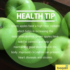 Buy fresh Green Apples now on Baqalo app and start living healthy. Benefits Of Green Apples, Fruit Benefits, Health Benefits, Health And Wellness, Health Tips, Healthy Life, Healthy Living, Improve Circulation, Fresh Green