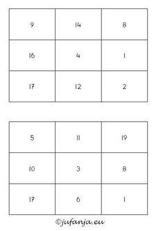 Rekenspelletjes groep 3; leerlingen van groep 3 en 4 kunnen aan de slag met deze sommenbingo. Doel: automatiseren van sommen tot 20.