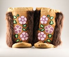 Athabascan Beaded Boots $800 ... totally love these... my almost 5 year old said she wants me to add these boots to her birthday wish list :-) smart girl
