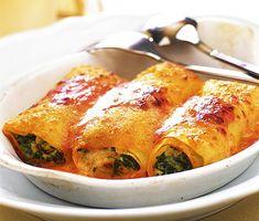 Recept: Pastarullar med spenat och ricotta
