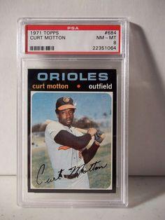 1971 Topps Curt Motton PSA Graded NM-MT 8 Baseball Card #684 MLB Collectible #BaltimoreOrioles