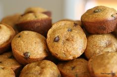 Sweet Potato Chocolate Chip Muffins. Mhm...sounds worth a try. Imagine with white chocolate chips. :)
