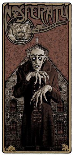 Nosferatu, eine Symphonie des Grauens (F. W. Murnau, 1922) - poster by Chris Weston | via Keith Gregoire