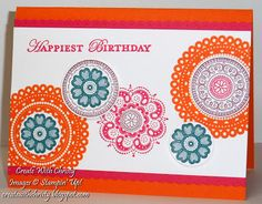 Stampin Up! Lacy & Lovely Birthday Card; Christy Fulk, SU! Demo