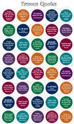 Famous Quotes 1 inch circle/25mm Bottle Cap by BehindTheDoor