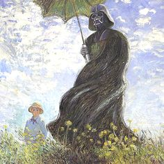 If Monet painted Darth Vader! This was to funny not to pin!