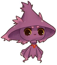 Mismagius. You know who uses that? Fantina. She's weird. She has weird hair.