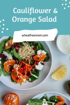 This simple to make gluten-free salad has citrus notes with the orange slices as well as a lovely lemon dressing. Gluten Free Vegetarian Recipes, Healthy Recipes, Orange Salad, Salad Dressing Recipes, How To Cook Quinoa, Vegetable Side Dishes, Healthy Salads, Fresh Herbs, Quick Meals