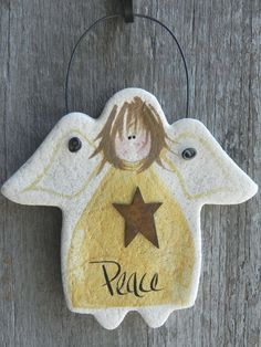 Angel Salt Dough Christmas Ornament /