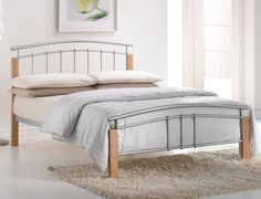 Birlea Tetras Double Metal Bed Frame