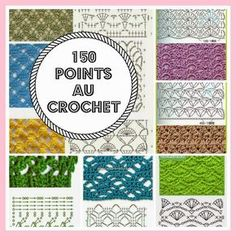 150 points au crochet - http://inspirations-tricot-crochet.blogspot.com/2015/03/150-points-au-crochet.html