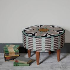 badger pattern round footstool by orwell and goode | notonthehighstreet.com