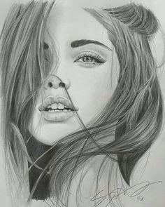 Girl Drawing Sketches, Portrait Sketches, Sketch Painting, Pencil Portrait, Portrait Art, Realistic Face Drawing, Female Face Drawing, Human Anatomy Drawing, Dark Art Drawings