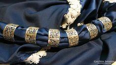 Ezüst egyiptomi mintás szalvétagyűrű 115,2 g