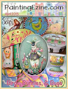 Painting Ezine April 2015 Issue Drawings To Trace, Birds 2, December 2014, Paint Shop, Painting Patterns, Snow Globes, Bunny, Projects, Crafts