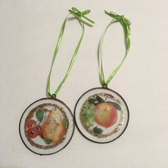 Vintage Style, Fifties 50s, Libby's Fruit Ad Ornament - Christmas ornament