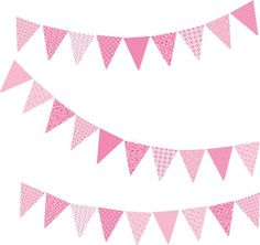 Wall stickers Pink Collection - Vintage Bunting image no.1