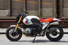 Luismoto vient de sortir ce custom baptisé NINET Paris-Dakar sur une base de BMW R NINET et inspiré par la mythique BMW R80G / S.  Entre autres pilotée par Hubert Auriol en 1983, la BMW R80G / S a fait les grandes heures de BMW au Paris Dakar, reconnaissable par sa selle rouge et son réservoir blanc, cette machine s'est illustrée dans plusieurs rallye-raid. Les mécaniciens de chez Luismoto font revivre le mythe.