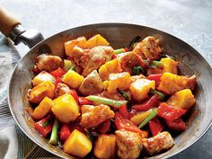 Our take saves 446 calories, 22 grams of fat, and 1,260 milligrams of sodium over one serving of a leading chain's sweet and sour chicken.View Recipe: Sweet and Sour Chicken