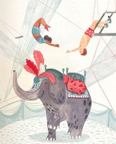 24 Ideas For Children Illustration Pencil Picture Books Circus Illustration, Elephant Illustration, Pencil Illustration, Children's Book Illustration, Circo Vintage, Circus Art, Vintage Circus, Fiction, Crayon