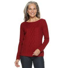 da9fec5233e Women s Croft   Barrow® Cable-Knit Boatneck Sweater