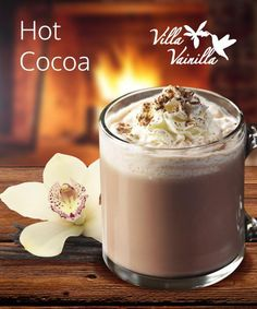 Hot cocoa with a hint of Villa Vainilla1 cup of milkUnsweetend cocoa powder2 tsp of sugar½ tsp Villa Vainilla vanilla extractJust a little pinch of saltWarm the milk in a saucepan and stir the milk as it heats. Stir in the...
