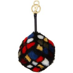 Anya Hindmarch Shearling Fur Rubik's Cube Charm ($795) ❤ liked on Polyvore featuring accessories, accessories key chains, multi, fur key chain, ring key chain, anya hindmarch, key chain rings and fur key ring