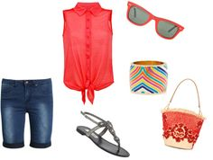 """""""summer fun outfit."""" by emilygaro on Polyvore"""