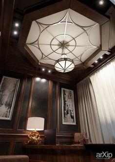 Кабинет в загородном доме: интерьер, зd визуализация, квартира, дом, кабинет личный, кабинет руководителя, классика, ампир, неогрек, палладианство, 20 - 30 м2, интерьер #interiordesign #3dvisualization #apartment #house #personalcabinet #officeofceo #classicism #20_30m2 #interior arXip.com