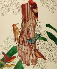 "Ángeles Agrela ""45.Lección de Anatomía"" (2010) Acrílico sobre tela Medidas: 190x156 cm"