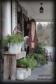 seasonal porch display