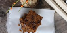 On my list of recipes to try: Ooey Gooey Chocolate Chip Pumpkin Bars . maybe for Thanksgiving! Paleo Chocolate Chips, Chocolate Chip Bars, Pumpkin Chocolate Chips, Paleo Sweets, Paleo Dessert, Healthy Desserts, Paleo Recipes, Real Food Recipes, Yummy Recipes