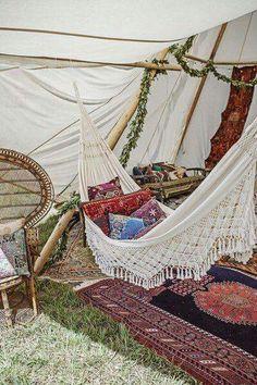 Inside Senares tent