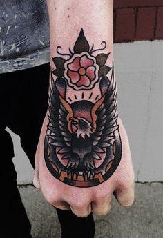 6 Solid Traditional Eagle Hand Tattoos | Tattoodo.com