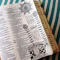 Some zentangles for the book of Isaiah. I loved the meditation on this one.