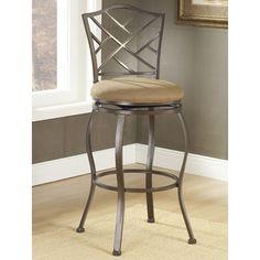 "Hillsdale Furniture Hanover 30"" Swivel Bar Stool with Cushion"