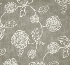 Adele Slate Grey Floral Cotton Print Drapery Fabric by Richtex Premium Prints 30 Yard Bolt - - Discount Fabrics Grey And White Curtains, Grey Curtains, White Valance, Office Curtains, Kitchen Curtains, Gothic Home, Floral Curtains, Drapery Fabric, Wall Fabric